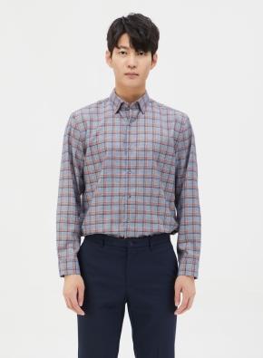 컬러 믹스 체크 셔츠 (NV)