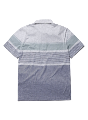 변형 블록 카라 반팔 티셔츠 (GN)
