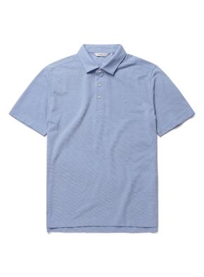 자수 리플 카라 반팔 티셔츠 (AQ)