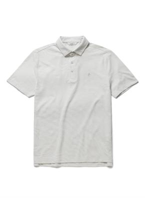 자수 리플 카라 반팔 티셔츠 (BE)