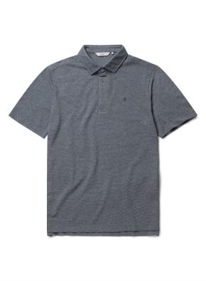 자수 리플 카라 반팔 티셔츠 (DGN)