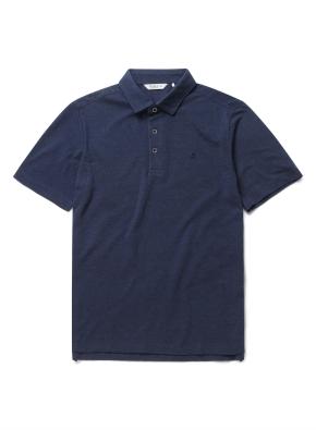 자수 리플 카라 반팔 티셔츠 (DNV)