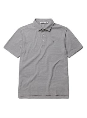자수 리플 카라 반팔 티셔츠 (GR)