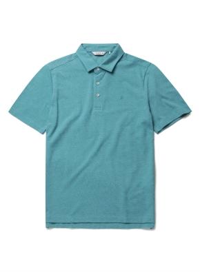 자수 리플 카라 반팔 티셔츠 (MT)