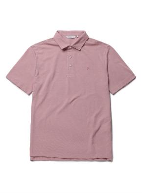 자수 리플 카라 반팔 티셔츠 (PK)