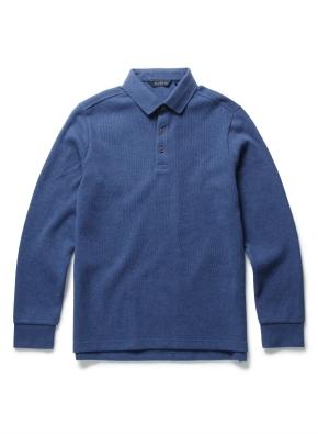 데일리 컬러 자수 카라티셔츠
