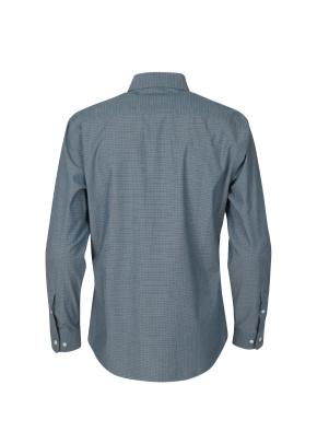 면혼방 미니체크 셔츠