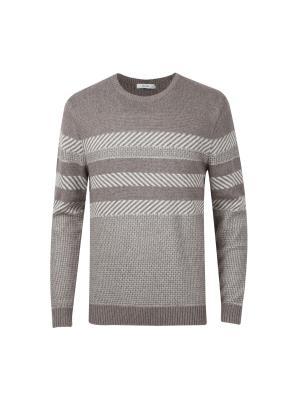 앙고라혼방 자카드 패턴 스웨터 (BE)