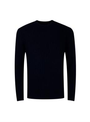 골조직 라운드 스웨터 (NV)