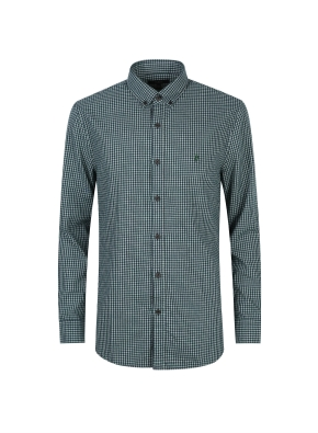 베이직 깅엄 체크 셔츠 (GN)
