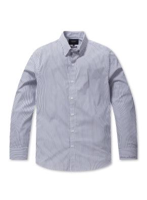 스트라이프 세미포멀 셔츠 (BL)