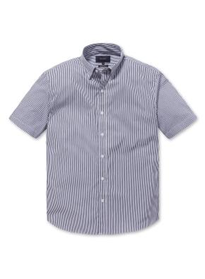 [2장에 59,000원] 스트라이프 세미포멀 반팔 셔츠 (BL)