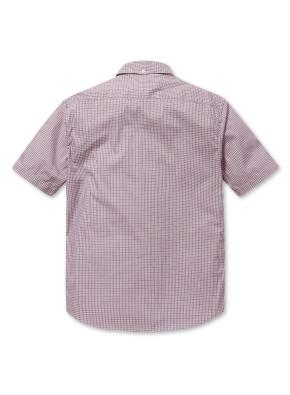 [2장에 59,000원] 체크 세미포멀 반팔 셔츠 (RD)