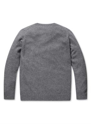 캐시미어 혼방 심플 스웨터 (GR)