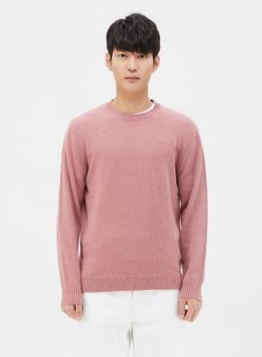 캐시미어 혼방 심플 스웨터 (PK)