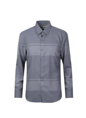 스트라이프 블록 패턴 셔츠