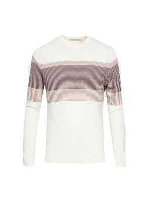 면혼방 원포인트 블록 스웨터
